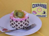 dortík smetanový malinový