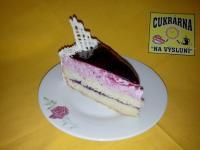 řez dort borůvkový